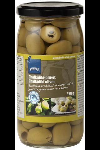 Rainbow Chalkidiki-oliivit kivettömät 350/185 g