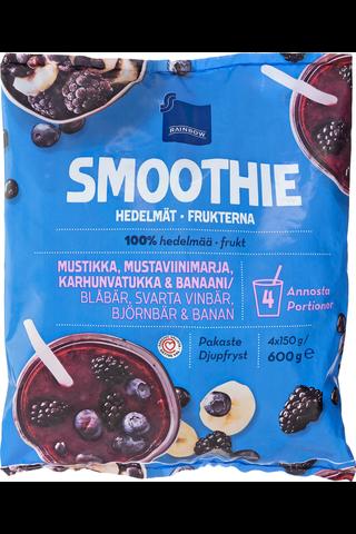 Smoothie Hedelmät 600 g mustikka-mustaviinimarja-karhunvatukka-banaani