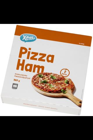X-tra Pizza kinkku 2 kpl, 560 g