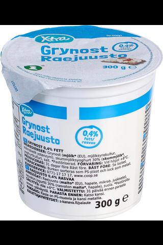 X-tra Raejuusto 0,4 %, 300 g