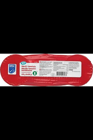 Makrillia tomaattikastikkeessa 375 g (3 x 125 g)
