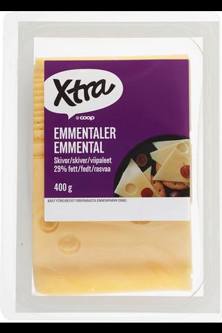 X-tra Emmental viipaleet 29 %, 400 g