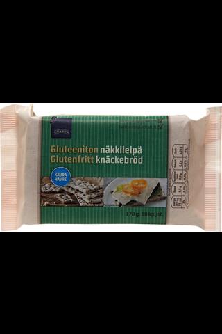 Rainbow Gluteeniton näkkileipä kaura 10 kpl, 170 g