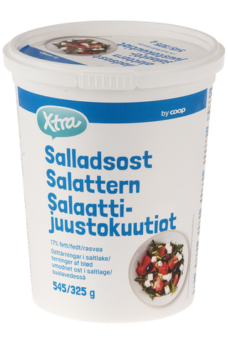 X-tra Salaattijuusto 17 %, 545/325 g