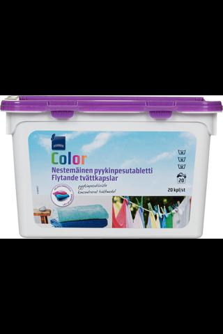 Color Nestemäinen pyykinpesutabletti 20 kpl