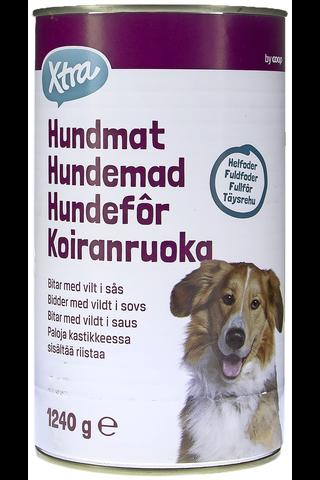 Dog food Game chunks in gravy 1240.00 gram