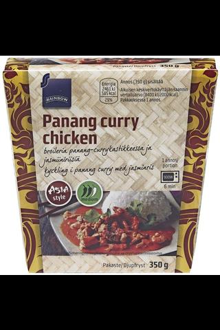 Broileria panang-currykastikkeessa ja jasmiiniriisiä 350g