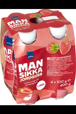 Jogurttijuoma 4 x 100 g mansikka