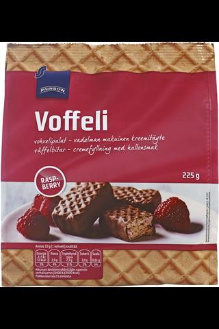 Chocolate wafers w. raspberry 225.00 gram