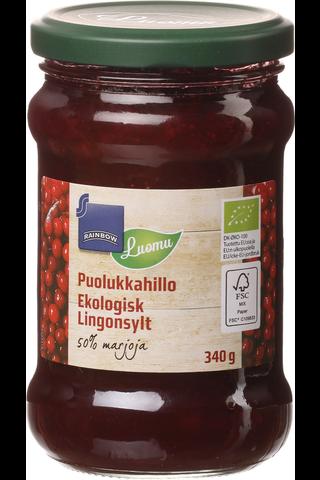 Lingon jam Organic 340.00 gram