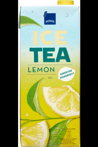 Rainbow Ice Tea lemon 1,5l sokeriton sitruunajäätee