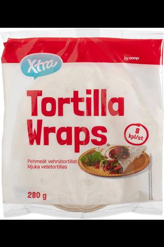 Xtra Tortilla wraps, 20 cm (8 pcs) 280 GRM