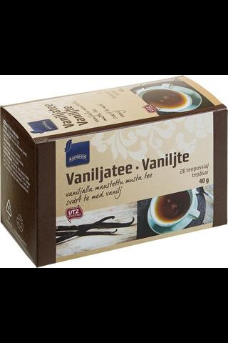 Vaniljalla maustettu musta tee