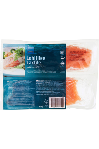 Rainbow Salmon portions without skin and bones 2x125g 250 GRM
