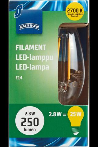 Rainbow LED Candle, E14, B25, 250LM, 2700K (Filament) 1 H87