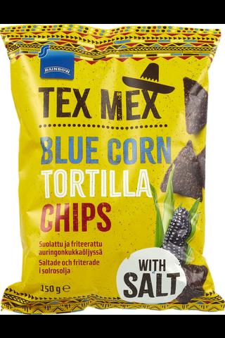 Rainbow 150g Tex Mex tortillasipsit sininen maissi