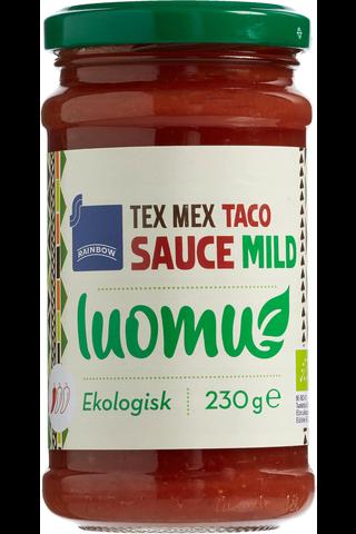 Rainbow 230g Tex Mex taco sauce mild luomu