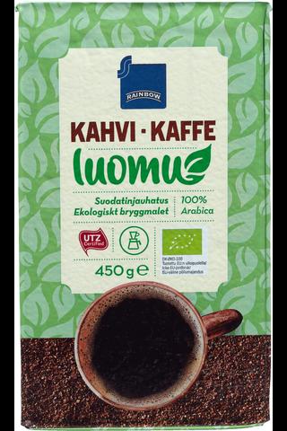 Rainbow 450g kahvi luomu suodatinjauhatus