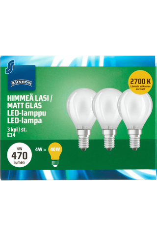Rainbow LED Bulb small, E14, P45, 470LM, 2700K (Frosted) 3 H87