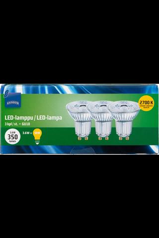 Rainbow LED-kohdelamppu 1,6W GU10 2700K 350lm 3kpl