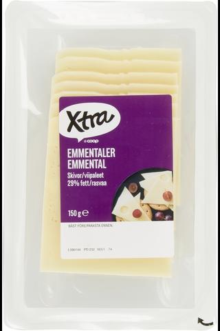 Xtra Emmental in Slices, 150g X-tra 150 GRM
