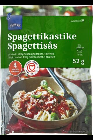 Rainbow 52g spagettikastikeainekset