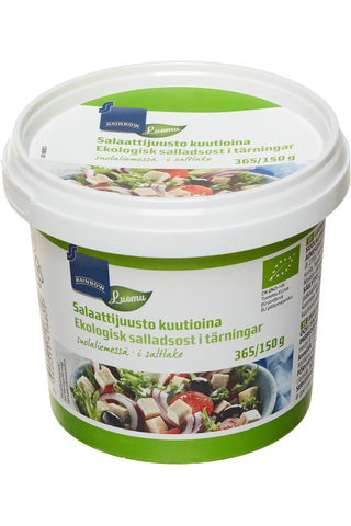 Rainbow 355/150g salaattijuusto kuutioina luomu