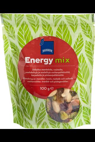 Rainbow 100g Energy Mix kuivattuja hedelmiä ja pähkinöitä