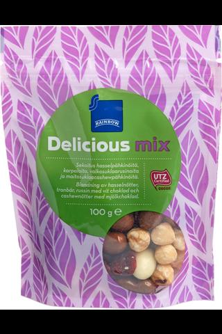 Rainbow 100g Delicious Mix kuivatut hedelmät & pähkinät