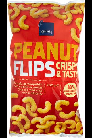 Maissia ja maapähkinää sisältävä snacks