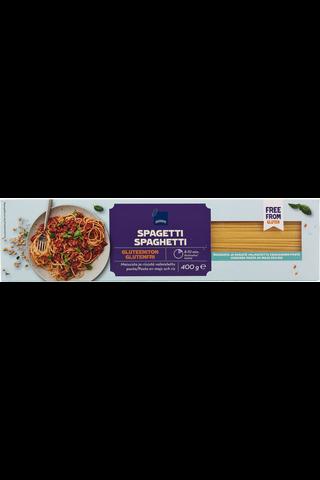 Maissista ja riisistä valmistettu pasta. Gluteeniton