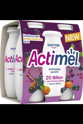 Danone Actimel mustaherukka-tyrni-acai jogurttijuoma 4x100g