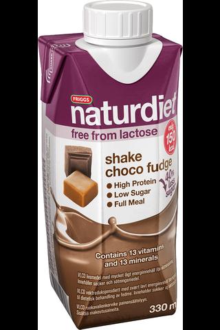 Naturdiet VLCD suklaa-toffee laktoositon shake 330ml