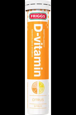 Friggs 10µg D-vitamiinipore sitrus 20kpl