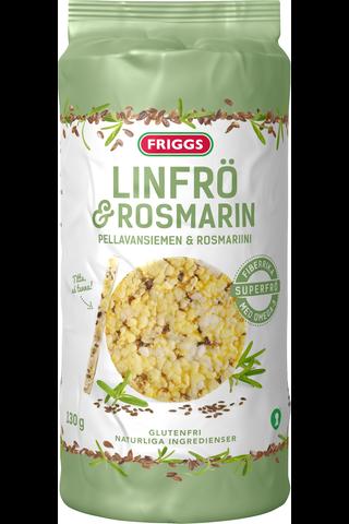 Friggs pellavansiemen-rosmariini gluteeniton maissikakku 130g