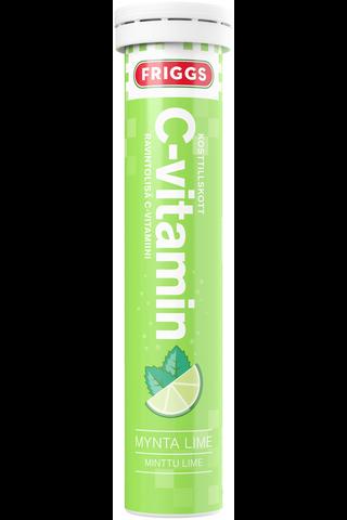 Friggs 1000mg C-vitamiini minttu lime poretabletti 20kpl
