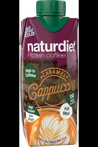 Naturdiet VLCD caramel cappuccino proteiinikahvi 330ml