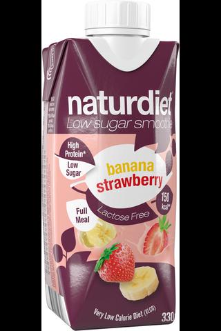 Naturdiet VLCD banaani-mansikka laktoositon Smoothie 330ml