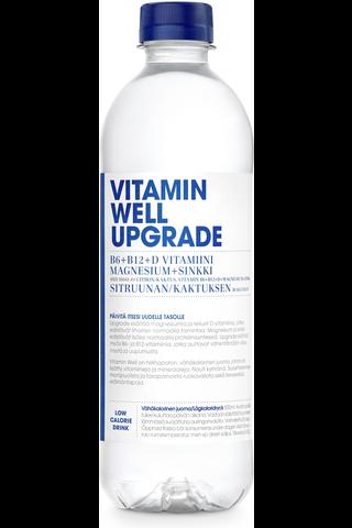 500ml Vitamin Well Upgrade, sitruunalla ja kaktuksella maustettu hiilihapoton juoma