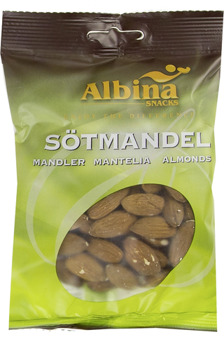 Albina Snacks 150g makea manteli