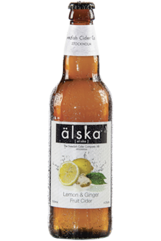 Älska Lemon Ginger 4% 0,5l pullo-siideri