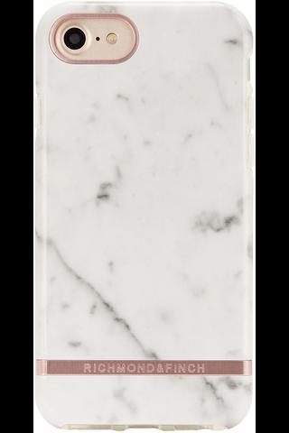 Richmond & Finch suojakuori valkoinen/marmori iPhone 6/6S/7/8