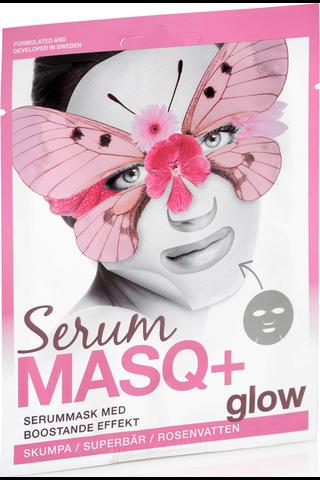 SerumMasq+ 23ml Glow Heleyttävä kangasnaamio