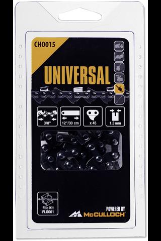 """Universal teräketju .3/8"""" 1,3mm 12"""" 45vl"""