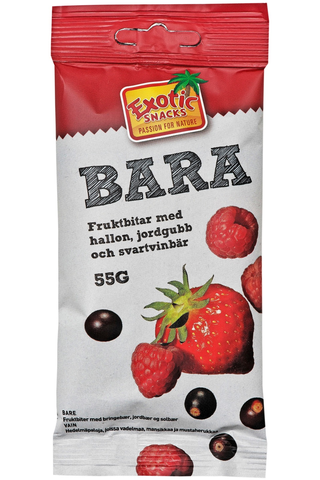 Exotic Snacks Bara mansikka vadelma mustaherukka 55g
