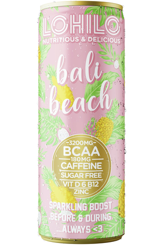 Lohilo trooppisten hedelmien makuinen BCAA-aminohappoja sisältävä sokeriton hiilihapotettu energiajuoma 330ml