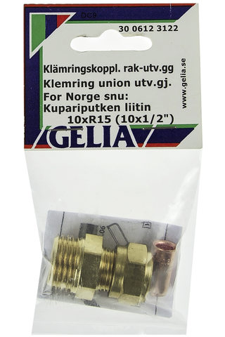Gelia puserrusliitin ulkokierre R15x10mm