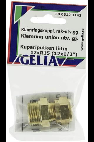 Gelia puserrusliitin ulkokierre R15x12mm