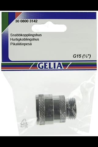 Gelia pikaliitinpesä ulkokierre R15 kromattu