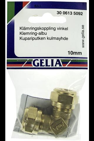 Gelia puserrusliitin kulma 10mm
